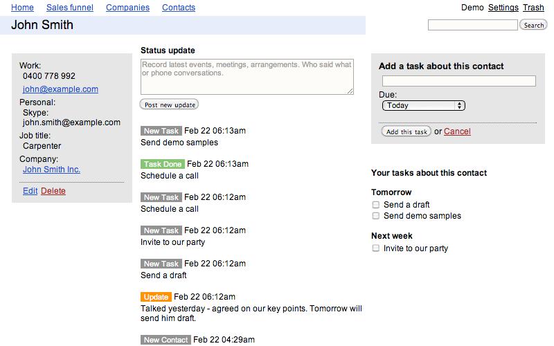 online task management flexisteps free online crm